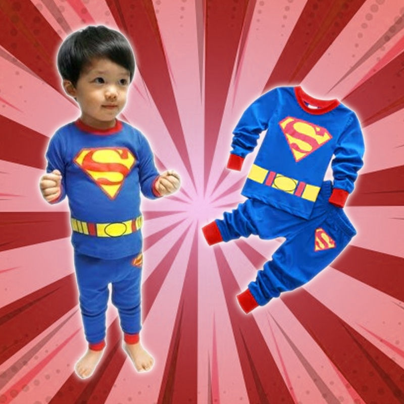 Cozy Cartoon Character Suit / Pajamas - Superman