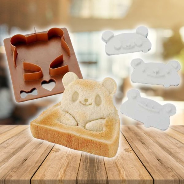 Panda, Frog and Bear Bread Shaper