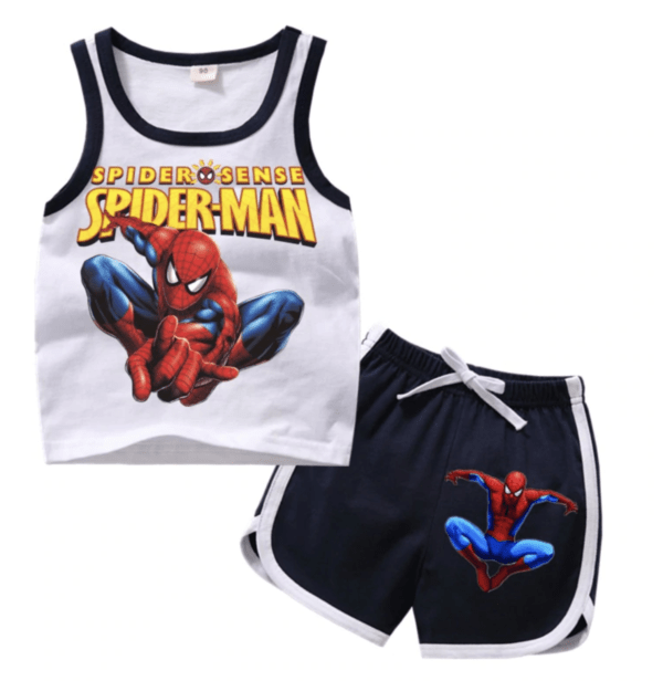 Spiderman summer set tank top and shorts for boys and girls