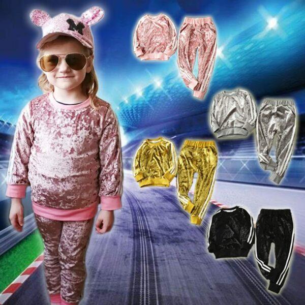 Velvet Sports Tracksuit for Girls