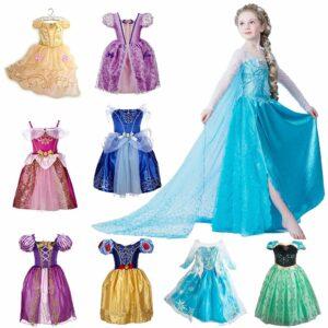 fairy tale princess dress Elsa Anna aurora Snow White Rapunzel belle