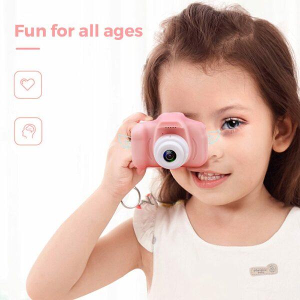 kids first digital camera three colors pink green blue 13 mega pixels lcd screen