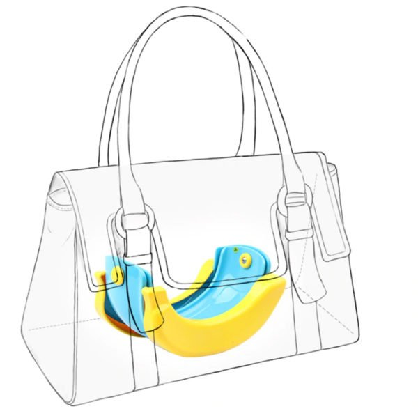 banana baby potty travel potty folding handbag potty training