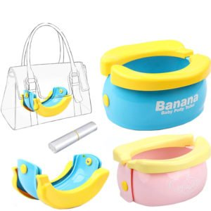 banana baby potty travel potty folding handbag potty training