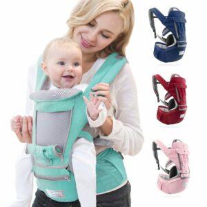 ergonomic genius allrounder baby carrier sling wrap backseat stroller all-in-one
