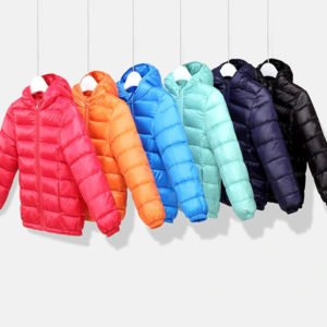 lightweight down winter jacket for kids boys and girls 2 to 9 years