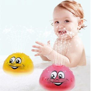 water sprinkler tub toy with led lights