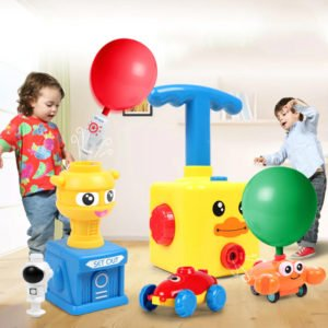 power balloon launcher toy balloon powered car rocket astronaut complete set