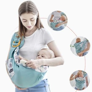 ring sling baby carrier 0-36 months up tp 130 lbs 60 kg multiple carrying positions breathable and comfortable for mother and child