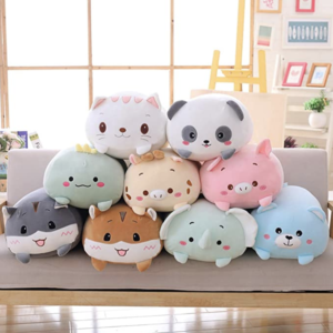 cute animal plush pillow super soft and cuddly